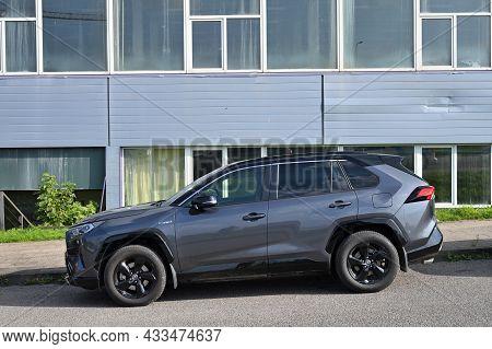 Vilnius - September 09: Toyota Rav-4, Side View Car At City Public Parking On September 09, 2021 In