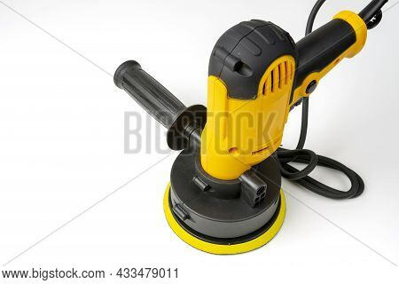 Electric Handy Tool For Polishing The Surface Of The Car Body