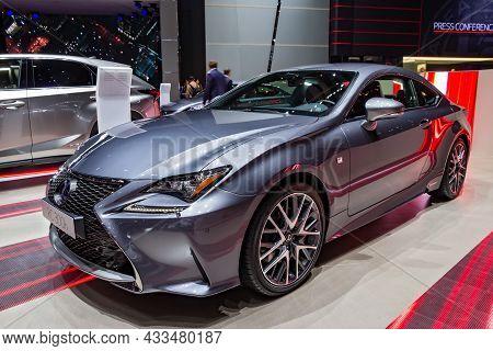 Lexus Rc 300h Car Showcased At The Geneva International Motor Show. Switzerland - March 1, 2016.