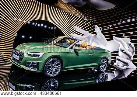 Audi A5 Cabriolet Car Showcased At The Frankfurt Iaa Motor Show 2019. Germany - September 10, 2019