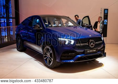 Mercedes-benz G-class Gle D Coupe Suv Car Showcased At The Frankfurt Iaa Motor Show. Germany - Septe