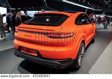 Porsche Cayenne S Coupe Car Showcased At The Frankfurt Iaa Motor Show. Germany - September 10, 2019