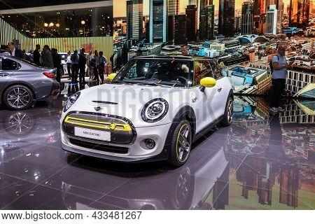 Mini Cooper Se Ev Electric Car Showcased At The Frankfurt Iaa Motor Show. Germany - September 10, 20