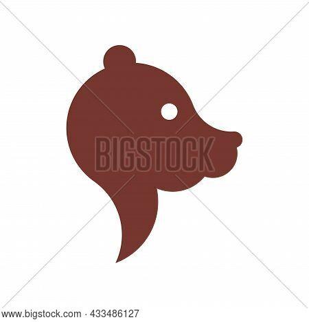 Vector Bear In Golden Ratio Style. Editable Illustration