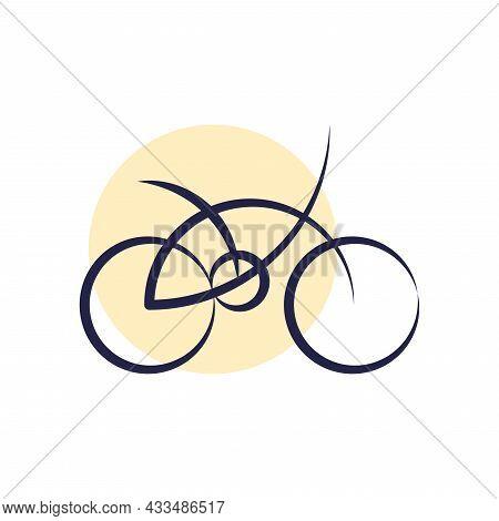 Vector Bike In Golden Ratio Style. Editable Illustration