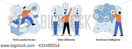 Motivational Creative Metaphor With Quote Think Outside The Box Think Differently Emotional Intellig