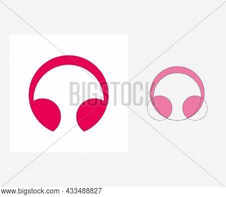 Vector Headphones In Golden Ratio Style. Editable Illustration