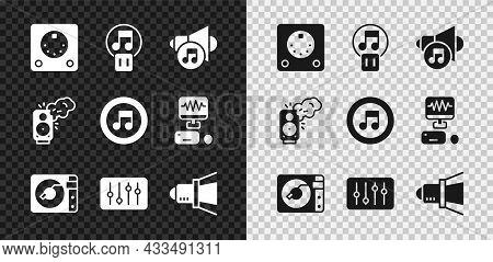 Set Drum Machine, Pause Button, Speaker Volume, Vinyl Player With Vinyl Disk, Sound Mixer Controller