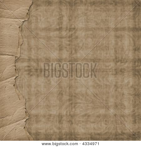 Old Paper In Grunge Style. Cover For Photoalbum