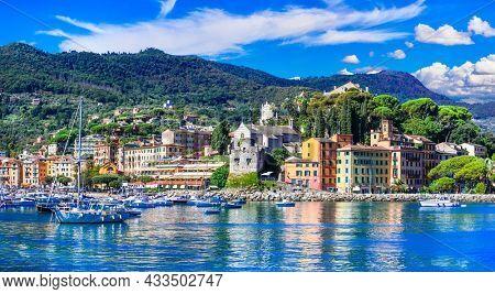 Santa Margherita Ligure - beautiful coastal town in Liguria, popular luxury resort for summer holidays in Italy