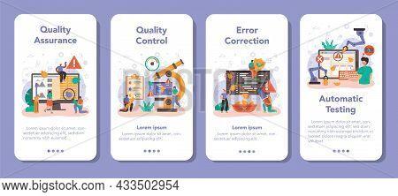 Software Tester Mobile Application Banner Set. Application Or Website
