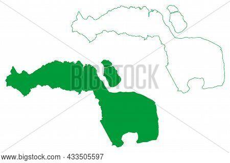 Amapa Municipality (amapa State, Municipalities Of Brazil, Federative Republic Of Brazil) Map Vector