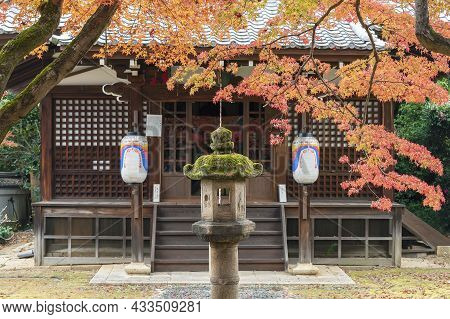Altar Of Japanese Temple Shinnyodo Temple In Kyoto, Japan