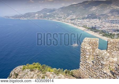 Beautiful View Of The Coastline Of Alanya From The Fortress Alanya Kalesi