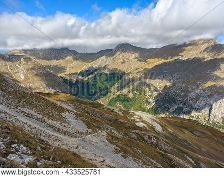 Wild Mountains View From The Summit Of Monte Sibilla In The National Park Of Monti Sibillini, Marche