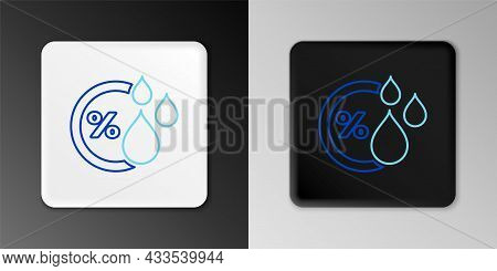 Line Humidity Icon Isolated On Grey Background. Weather And Meteorology, Thermometer Symbol. Colorfu