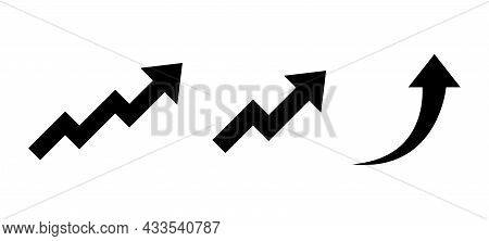 Rising Arrow Set. Arrows Going Up - Collection Of Vector Elements