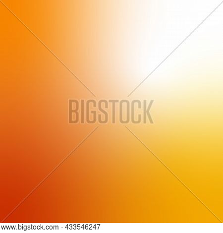 Abstract Autumn Yellow Orange Colors Gradient Background, Copy Space Text And Objects Design. Autumn