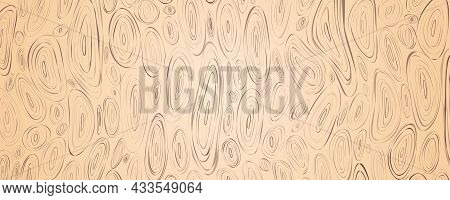 Wooden Texture Template. Veneer Surface. Plywood Pattern Vector Illustration. Abstract Fibers Struct