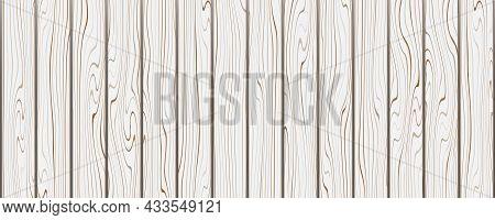 Light Wooden Texture. Realistic Vector Wood Design. Natural Hardwood Background.
