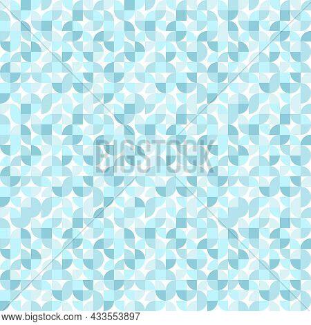 Geometric Minimalistic Seamless Vector Pattern. Blue Monochrome Abstract Flat Scandinavian Pattern.