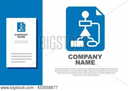 Blue Tile Flowchart For Program Design Or Process Management Plan Icon Isolated On White Background.