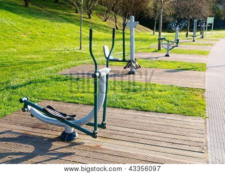 Exercise Machines In A Public Park