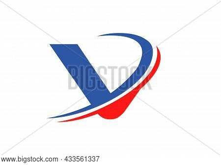 V Letter Business Logo Template. Initial V Logo Design For Real Estate, Financial, Marketing, Manage