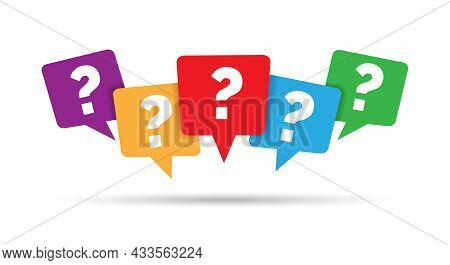 Question Message Marks. Faq Questions Inquiry Discussions Mark Set, Reasoning Questioning Markings S