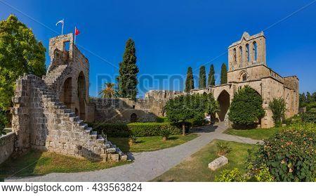 Bellapais Abbey monastery - Kyrenia (Girne) Northern Cyprus - architecture background