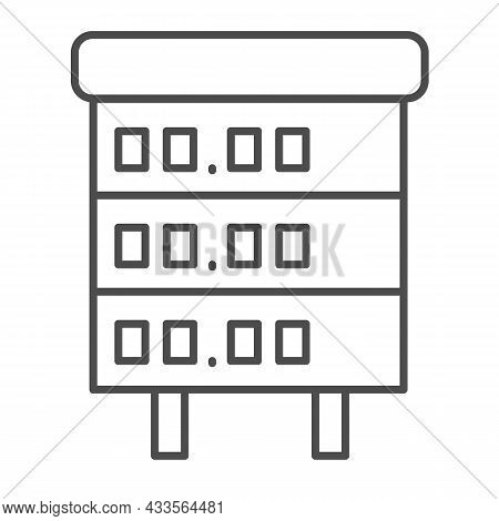 Signboard With Gasoline, Fuel Prices Thin Line Icon, Oil Industry Concept, Gas Price Board Vector Si