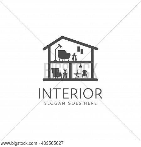 Minimalist Home Decoration Furniture Interior Logo Design. Interior Furniture Home Design Minimalist