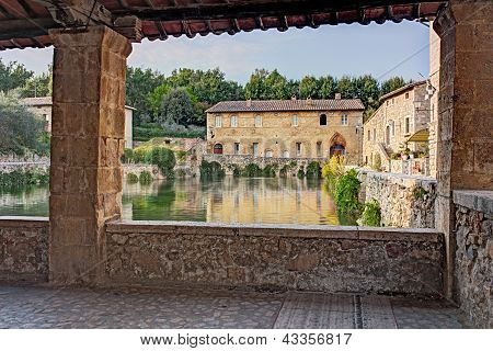 old thermal baths in Bagno Vignoni, Italy