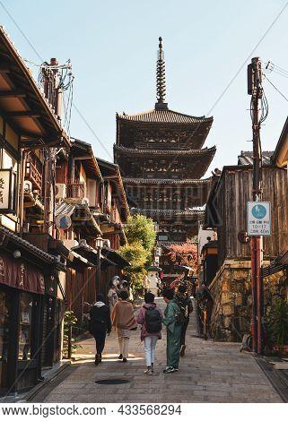 Higashiyama Historic District Of Kyoto, Japan