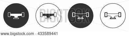 Black Skateboard Wheel Icon Isolated On White Background. Skateboard Suspension. Skate Wheel. Circle