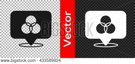 Black Rgb And Cmyk Color Mixing Icon Isolated On Transparent Background. Vector