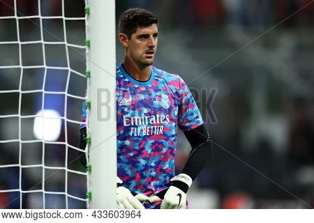 Milano, Italy. 15 September 2021. Thibaut Courtois Of Real Madrid Cf  During The  Uefa Champions Lea