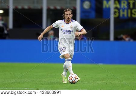 Milano, Italy. 15 September 2021. Luka Modric Of Real Madrid Cf  In Action During The  Uefa Champion