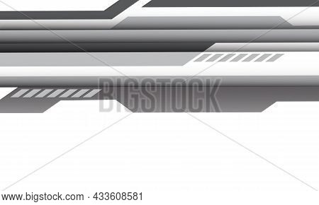 Abstract Grey Cyber Geometric Line On White With Blank Space Design Modern Futuristic Technology Bac