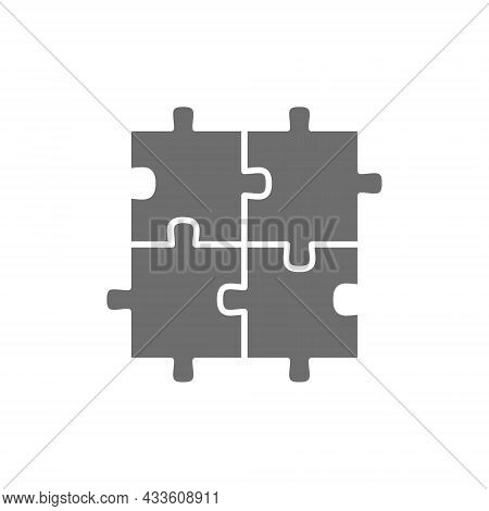 Puzzle, Jigsaw, Square, Integrity, Problem Solving Grey Icon.