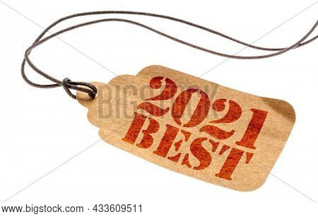 2021 best sign - a paper tag with a twine isolated on white, best products of the year