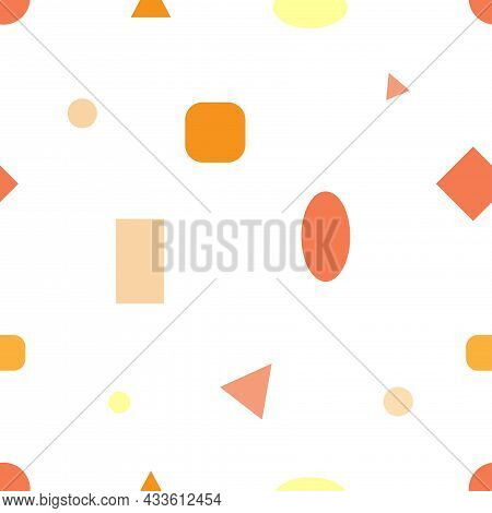 Seamless Abstract Pattern On White Background. Vector Simple Print. Graphic Geometric Ornament.