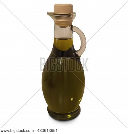 Vector Olive Oil Bottle Isolated On White Background