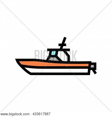 Center Console Boat Color Icon Vector. Center Console Boat Sign. Isolated Symbol Illustration