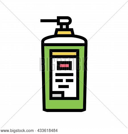 Concentrated Detergent With Dispenser Color Icon Vector. Concentrated Detergent With Dispenser Sign.