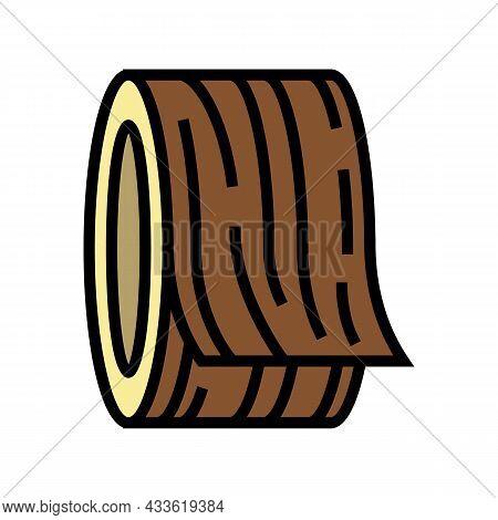 Veneers Wooden Color Icon Vector. Veneers Wooden Sign. Isolated Symbol Illustration