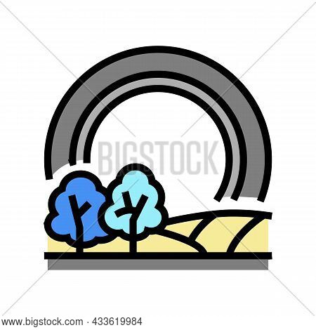 Touring Tires Color Icon Vector. Touring Tires Sign. Isolated Symbol Illustration