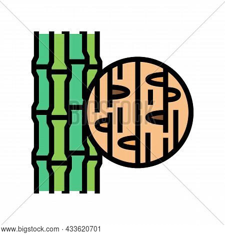 Bamboo Wood Color Icon Vector. Bamboo Wood Sign. Isolated Symbol Illustration