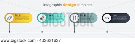 Set Line Skateboard, Grip Tape On Skateboard, Longboard Or And . Business Infographic Template. Vect