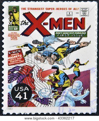 francobollo stampato negli Stati Uniti Mostra X-Men
